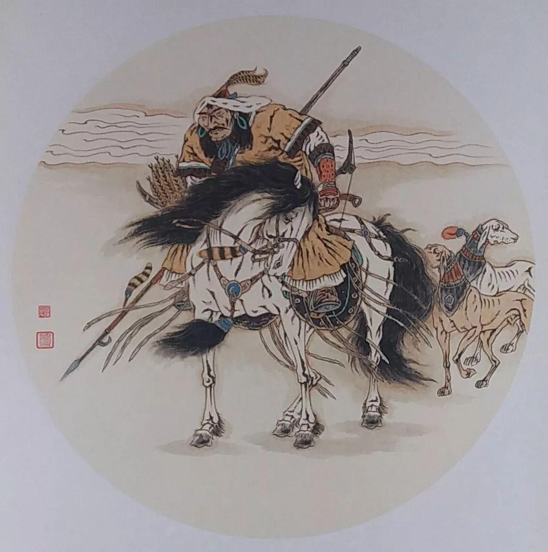内蒙古当代美术家系列——白嘎力中国画作品选 第33张
