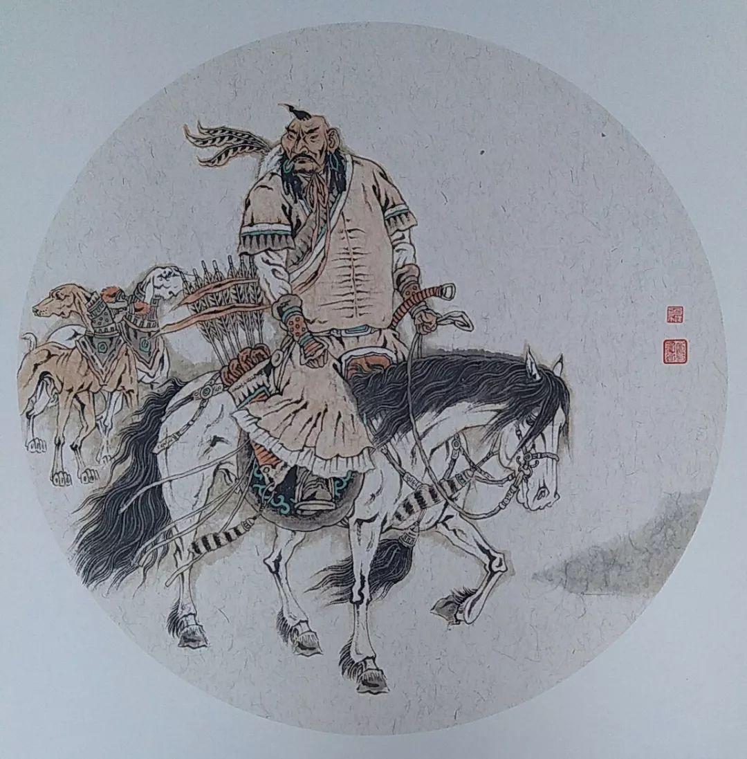 内蒙古当代美术家系列——白嘎力中国画作品选 第34张
