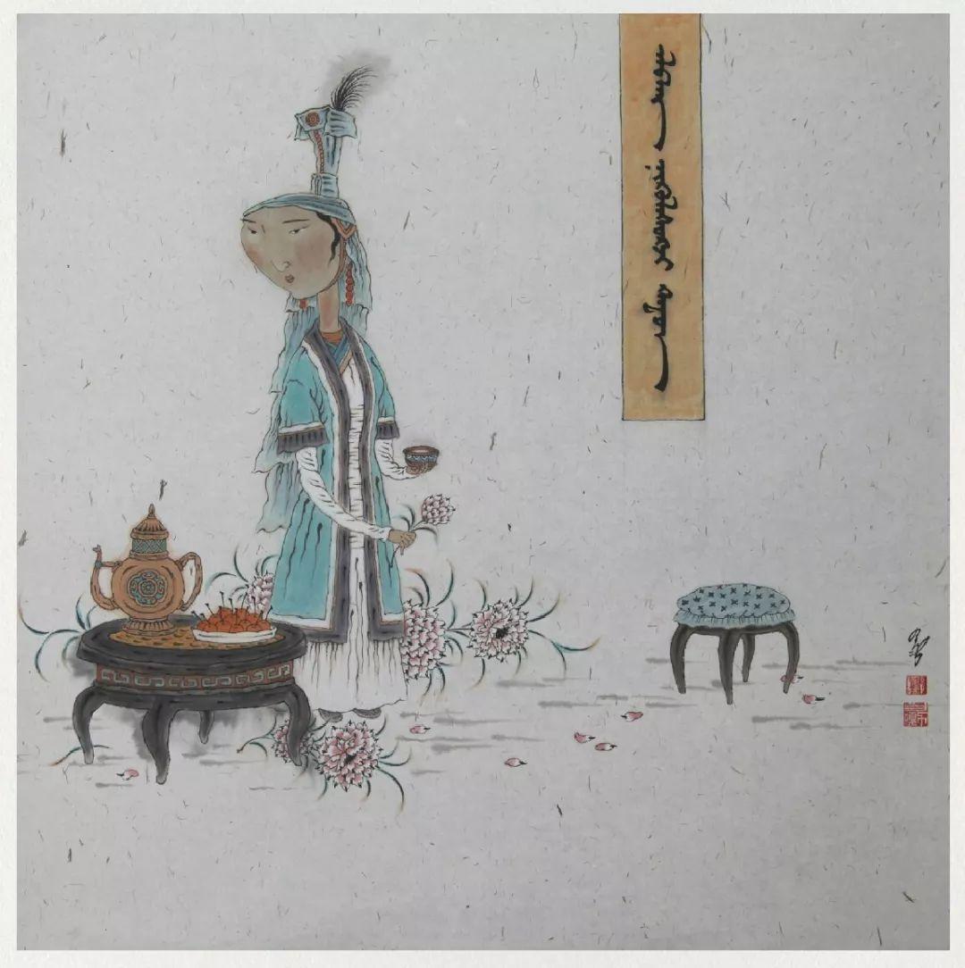内蒙古当代美术家系列——白嘎力中国画作品选 第39张