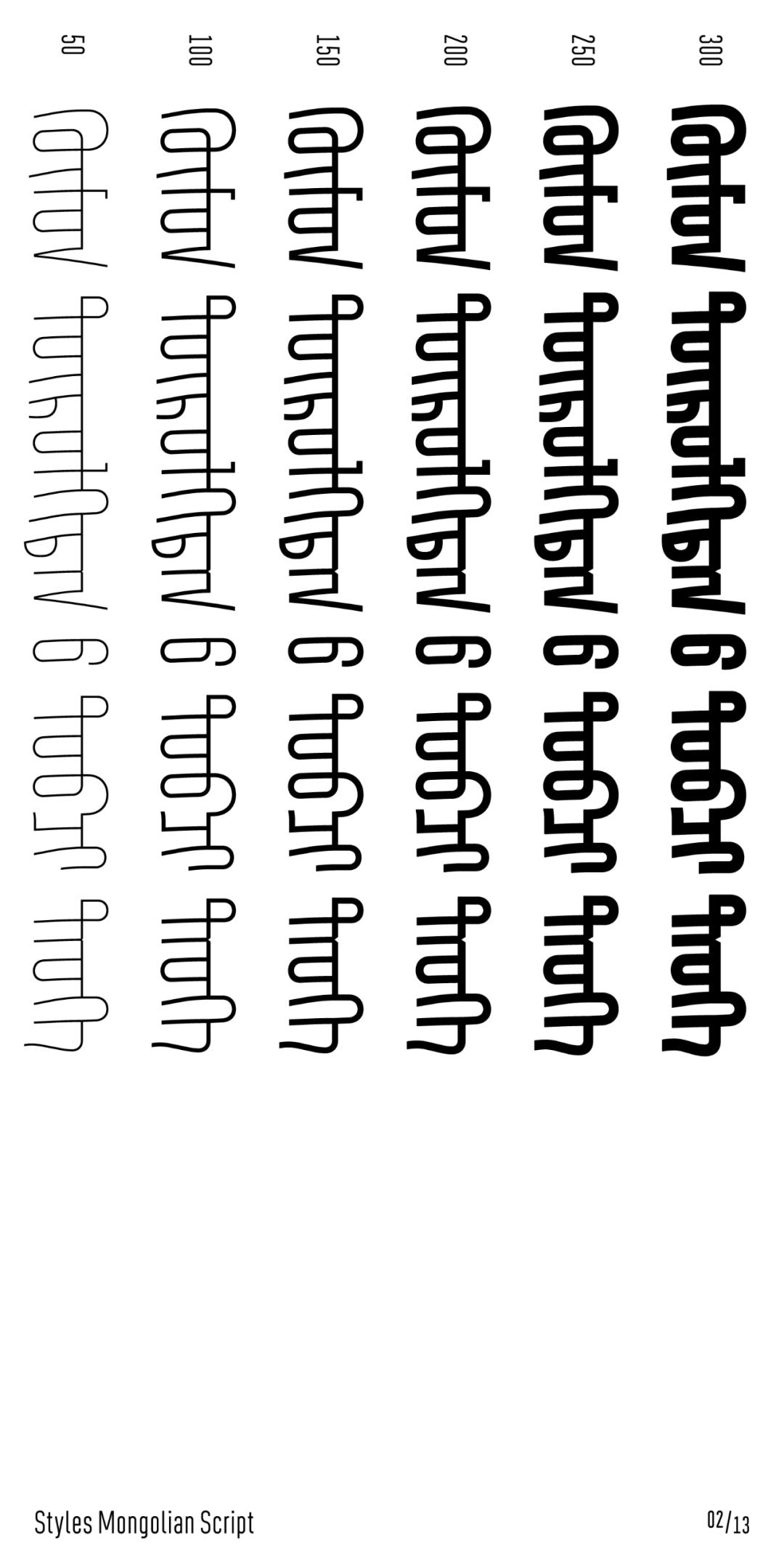 几何风格蒙古字体 Ailognom™ 第6张 几何风格蒙古字体 Ailognom™ 蒙古设计