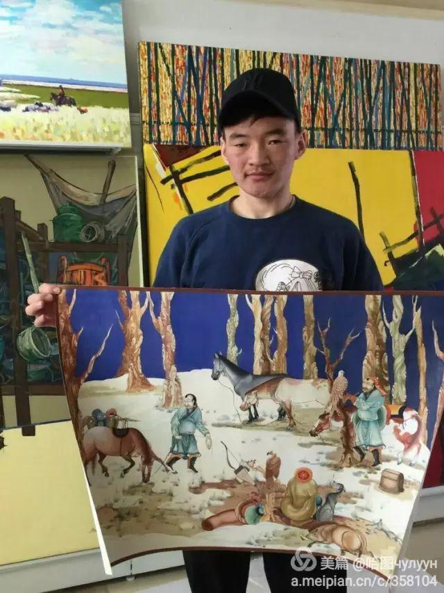 【文艺】蒙古国90后天才画家普日布苏仁作品欣赏(组图) 第2张