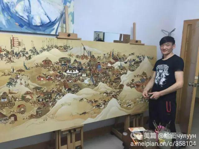 【文艺】蒙古国90后天才画家普日布苏仁作品欣赏(组图) 第6张