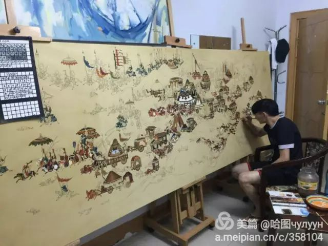 【文艺】蒙古国90后天才画家普日布苏仁作品欣赏(组图) 第7张