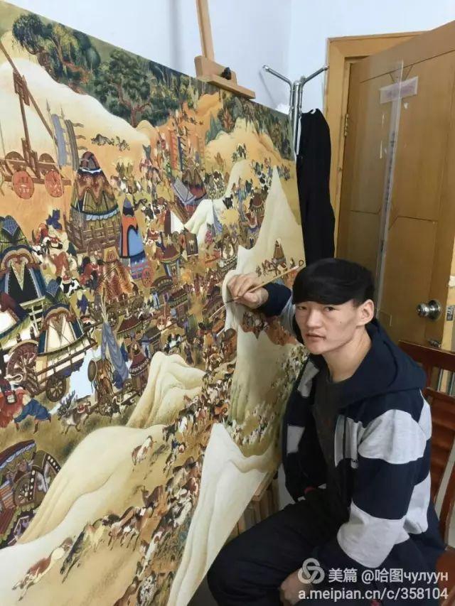 【文艺】蒙古国90后天才画家普日布苏仁作品欣赏(组图) 第5张