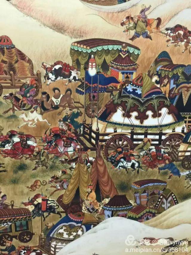 【文艺】蒙古国90后天才画家普日布苏仁作品欣赏(组图) 第8张