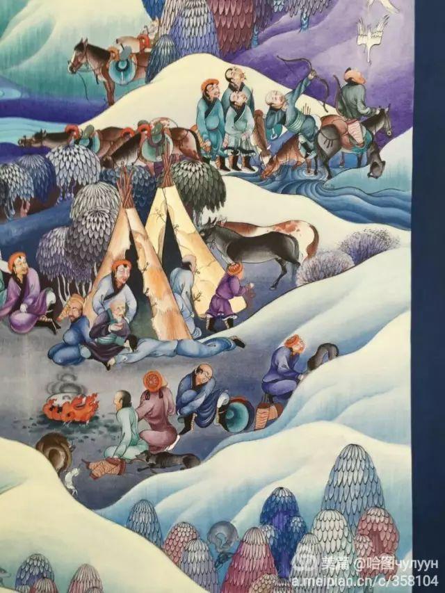 【文艺】蒙古国90后天才画家普日布苏仁作品欣赏(组图) 第23张