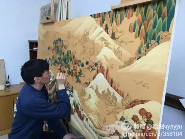 【文艺】蒙古国90后天才画家普日布苏仁作品欣赏(组图) 第30张