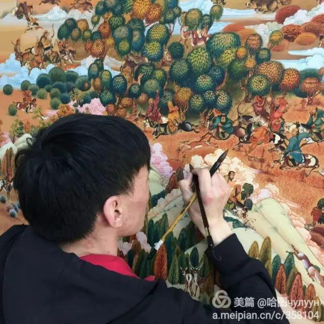 【文艺】蒙古国90后天才画家普日布苏仁作品欣赏(组图) 第31张