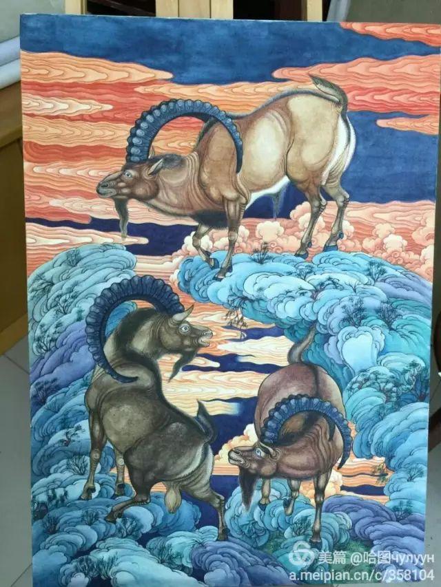 【文艺】蒙古国90后天才画家普日布苏仁作品欣赏(组图) 第39张