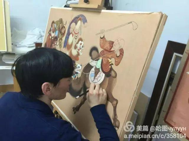 【文艺】蒙古国90后天才画家普日布苏仁作品欣赏(组图) 第74张