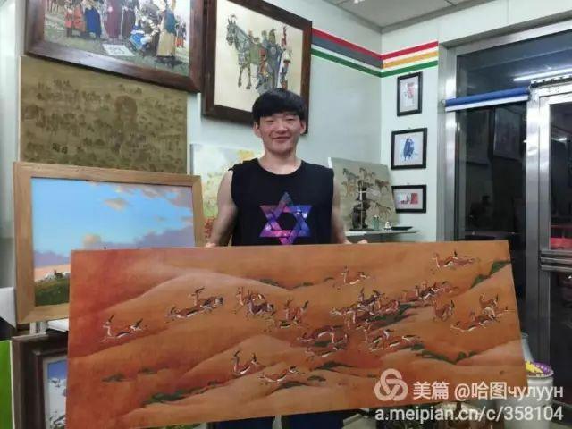 【文艺】蒙古国90后天才画家普日布苏仁作品欣赏(组图) 第73张