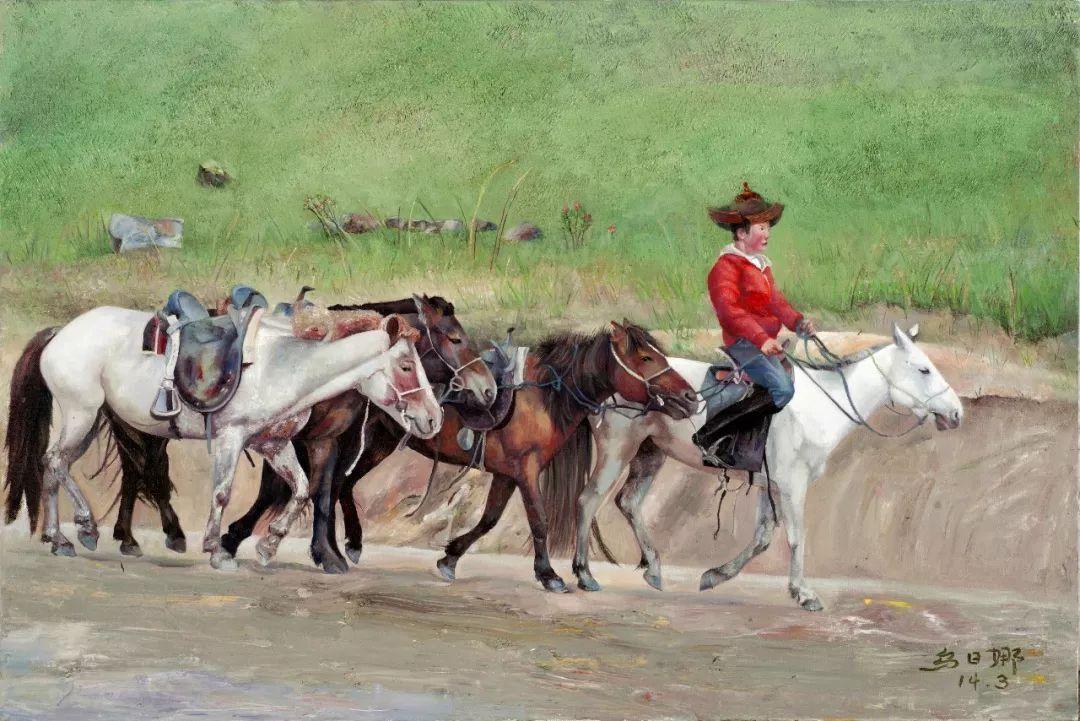 心灵深处的绿色草原 ——蒙古族画家乌日娜的油画 第3张