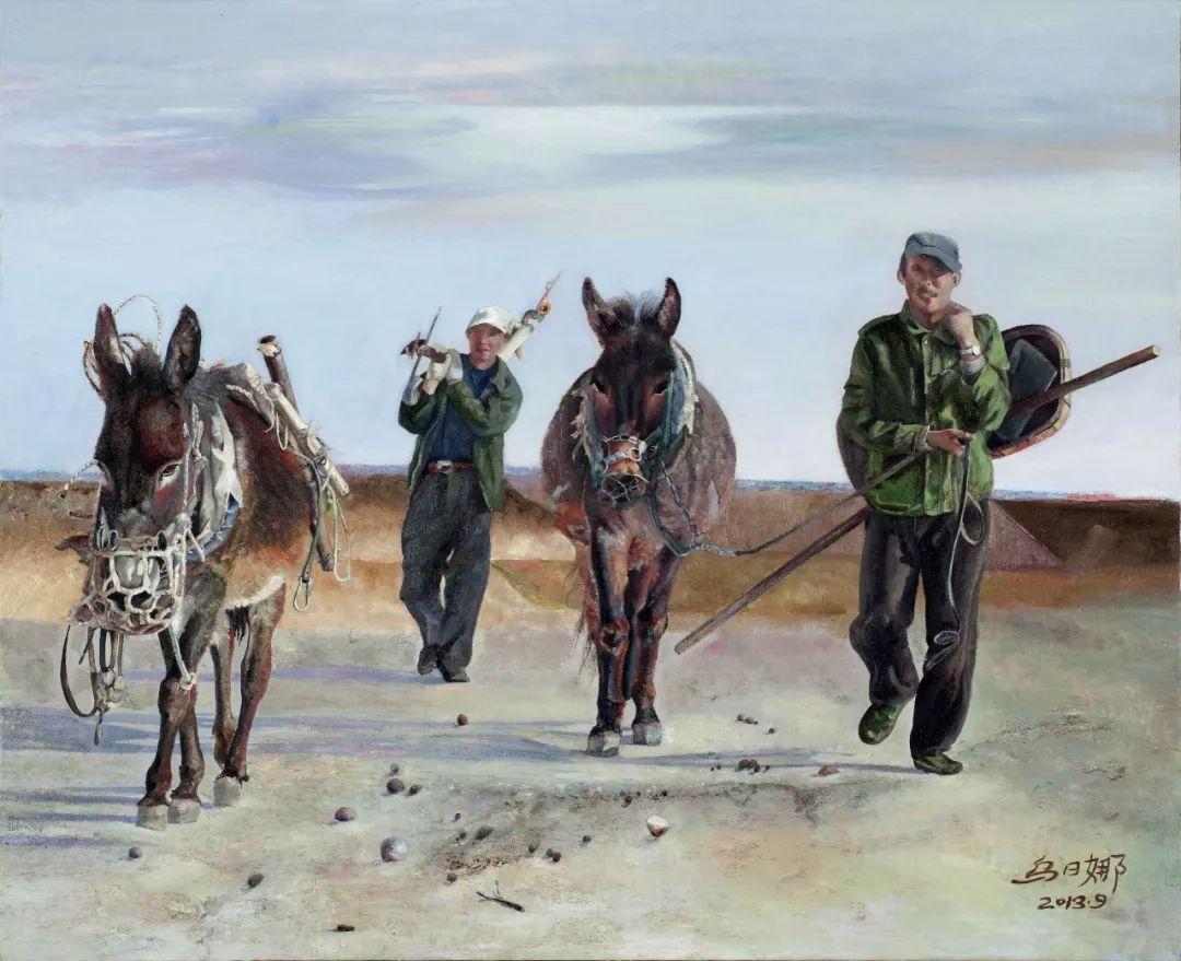 心灵深处的绿色草原 ——蒙古族画家乌日娜的油画 第14张