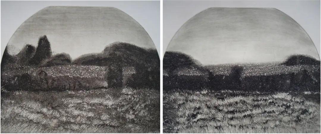 家乡美 | 乌兰图雅版画作品欣赏 第3张 家乡美 | 乌兰图雅版画作品欣赏 蒙古画廊