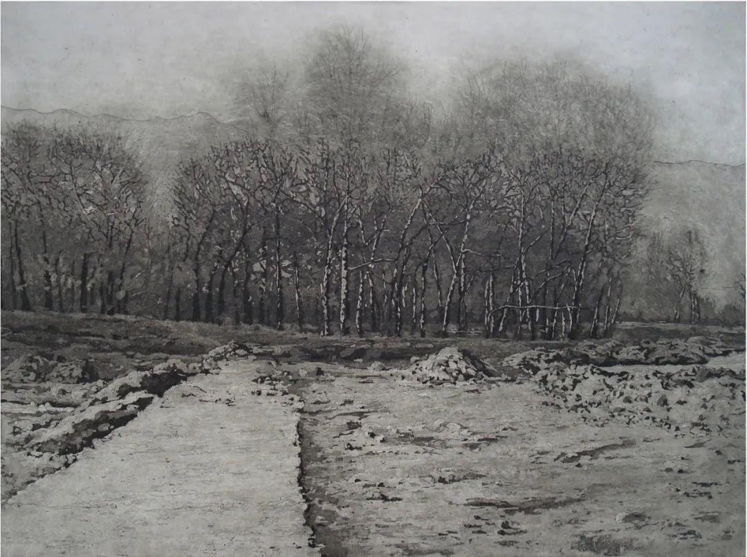 家乡美 | 乌兰图雅版画作品欣赏 第10张 家乡美 | 乌兰图雅版画作品欣赏 蒙古画廊