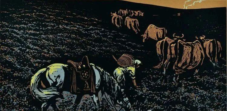 唤起浓郁草原风情的——科尔沁版画! 第1张