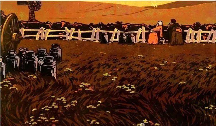 唤起浓郁草原风情的——科尔沁版画! 第2张