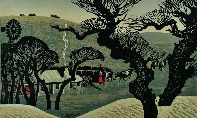 唤起浓郁草原风情的——科尔沁版画! 第9张