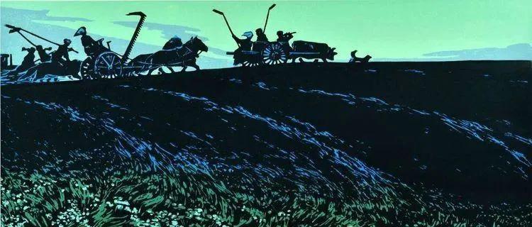 唤起浓郁草原风情的——科尔沁版画! 第13张