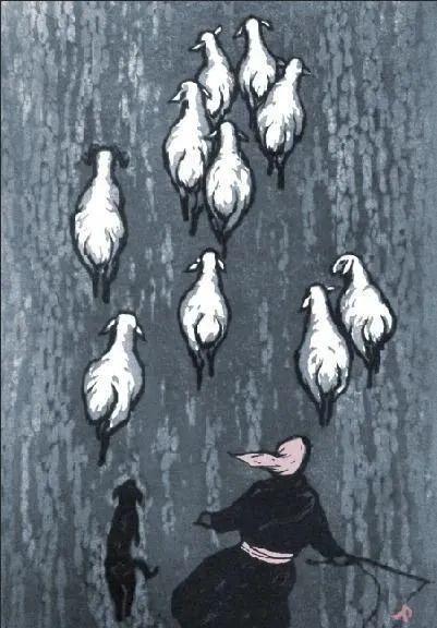 唤起浓郁草原风情的——科尔沁版画! 第21张