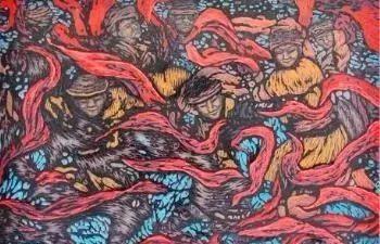唤起浓郁草原风情的——科尔沁版画! 第25张