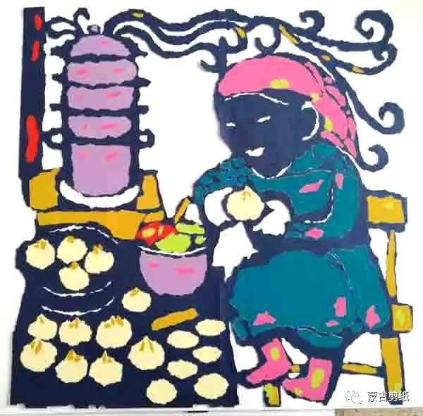 萨仁剪纸—蒙古族美食文化系列作品 第3张