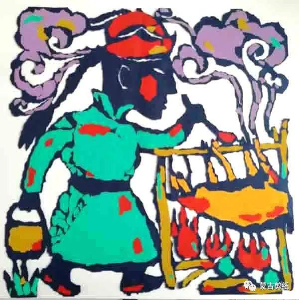 萨仁剪纸—蒙古族美食文化系列作品 第2张