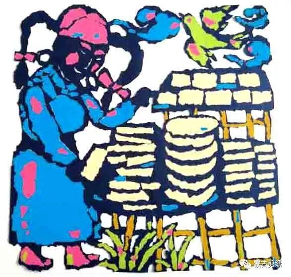萨仁剪纸—蒙古族美食文化系列作品 第4张