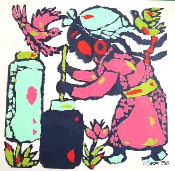 萨仁剪纸—蒙古族美食文化系列作品 第7张