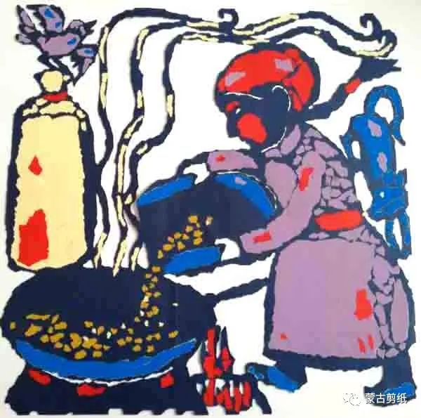 萨仁剪纸—蒙古族美食文化系列作品 第5张