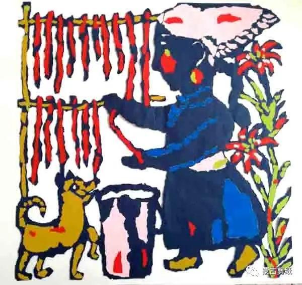 萨仁剪纸—蒙古族美食文化系列作品 第9张