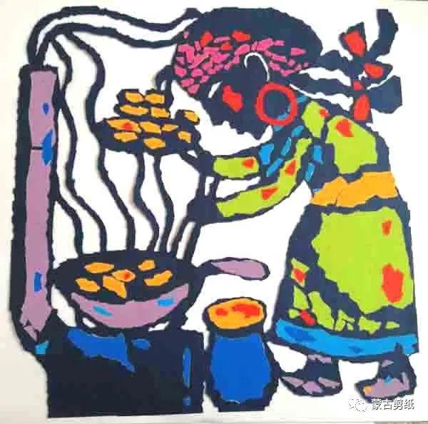 萨仁剪纸—蒙古族美食文化系列作品 第11张