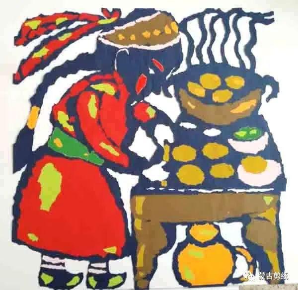 萨仁剪纸—蒙古族美食文化系列作品 第10张
