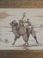 沙画家阿拉塔毕力格:一缕细沙演绎草原游牧生活 第21张 沙画家阿拉塔毕力格:一缕细沙演绎草原游牧生活 蒙古画廊