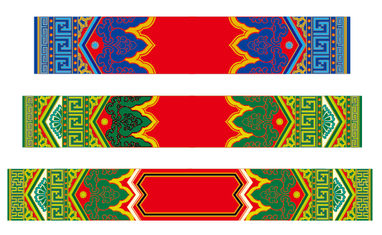 蒙古族花纹底纹图案 古典圆形镂空中式边框素材AI矢量 第21张
