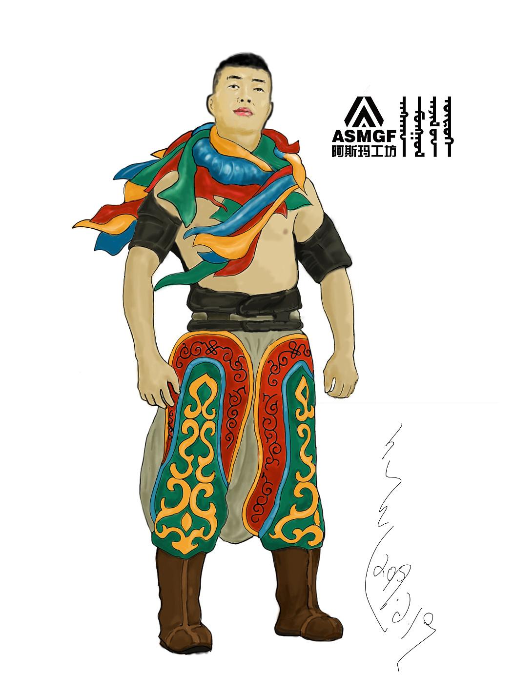蒙古人物插图设计(阿斯玛18248305310微信)