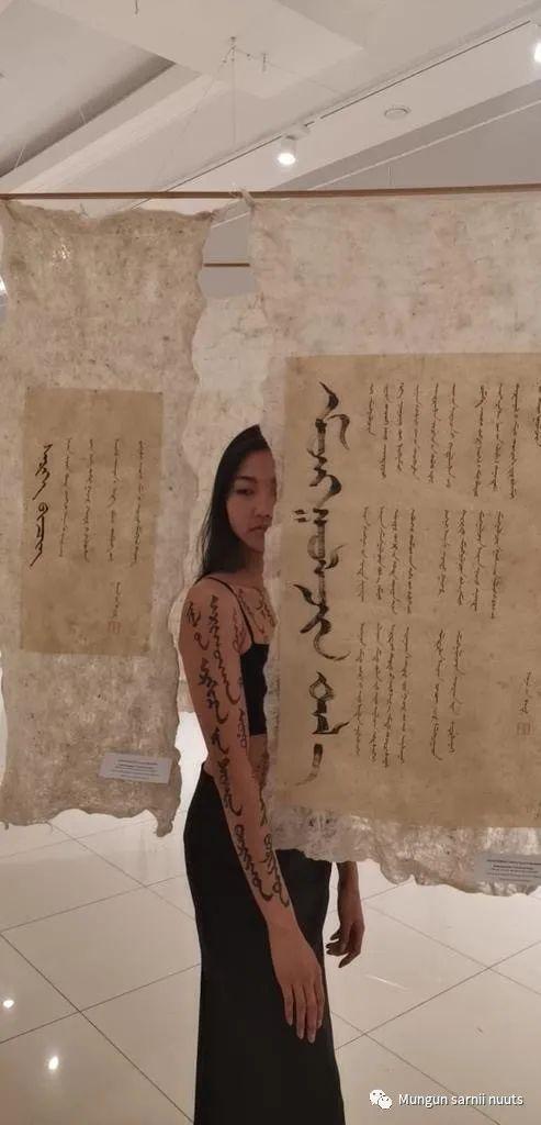 布里亚特蒙古书法作品欣赏 第7张 布里亚特蒙古书法作品欣赏 蒙古书法