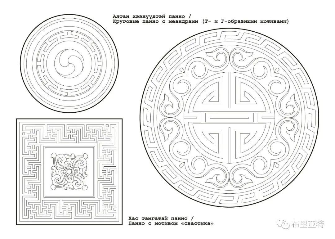 布里亚特蒙古族图案的演变与应用(马奕兰) 第5张 布里亚特蒙古族图案的演变与应用(马奕兰) 蒙古图案