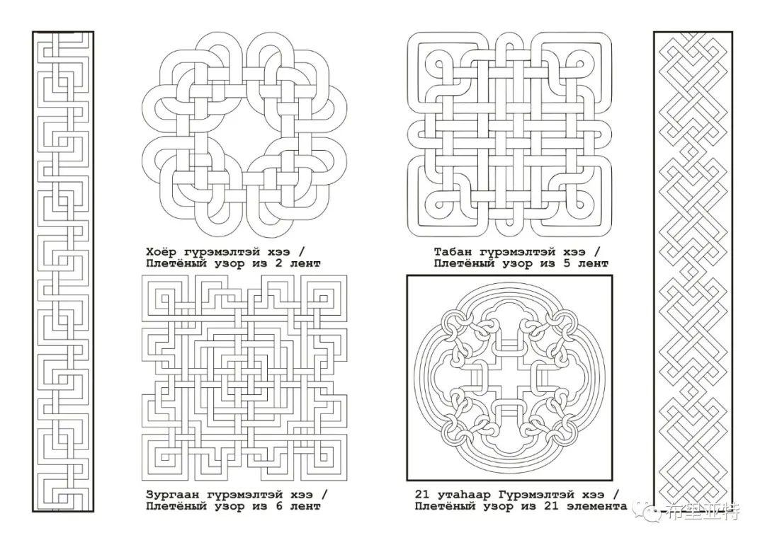 布里亚特蒙古族图案的演变与应用(马奕兰) 第3张 布里亚特蒙古族图案的演变与应用(马奕兰) 蒙古图案