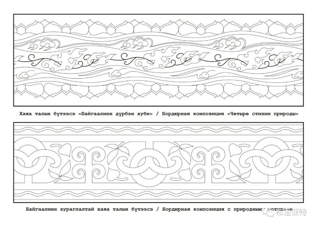 布里亚特蒙古族图案的演变与应用(马奕兰) 第18张 布里亚特蒙古族图案的演变与应用(马奕兰) 蒙古图案