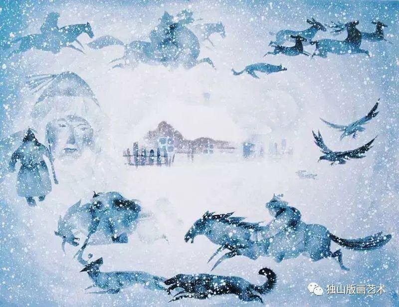 扎鲁特版画概略 第78张 扎鲁特版画概略 蒙古画廊
