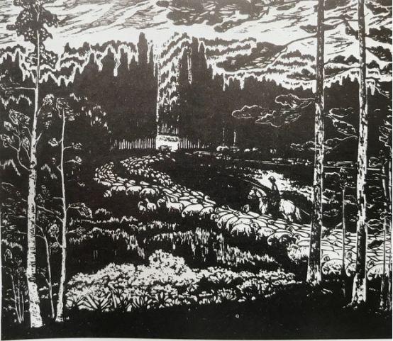 扎鲁特版画概略 第84张 扎鲁特版画概略 蒙古画廊