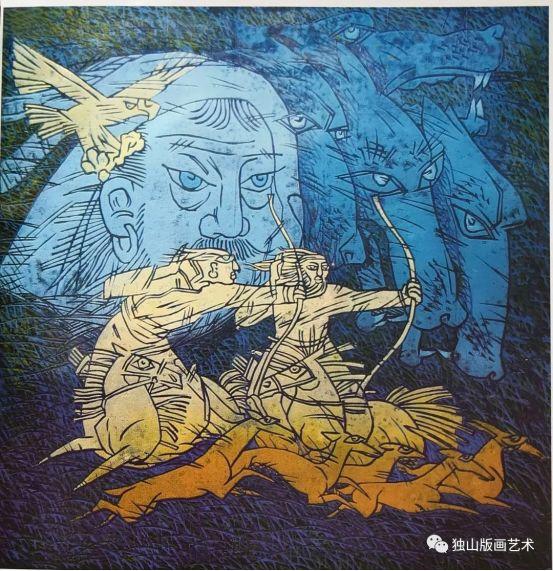 扎鲁特版画概略 第87张 扎鲁特版画概略 蒙古画廊