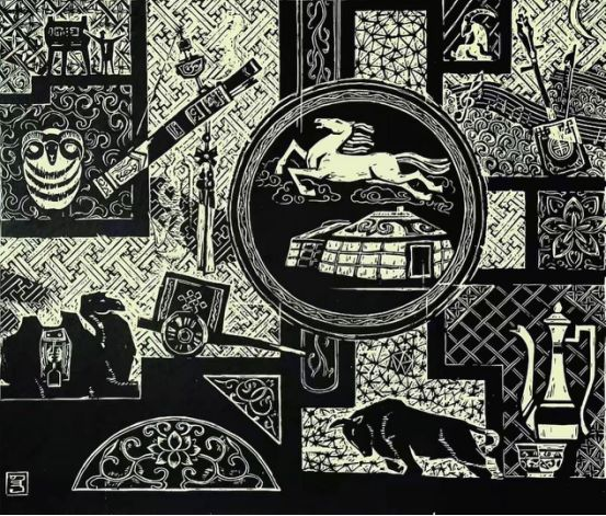 扎鲁特版画概略 第118张 扎鲁特版画概略 蒙古画廊