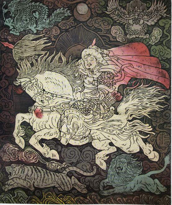 扎鲁特版画概略 第117张 扎鲁特版画概略 蒙古画廊