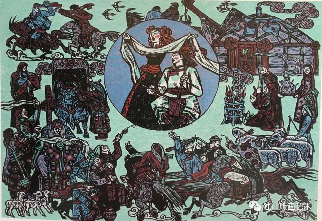 扎鲁特版画概略 第114张 扎鲁特版画概略 蒙古画廊