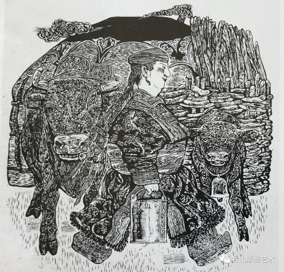扎鲁特版画概略 第115张 扎鲁特版画概略 蒙古画廊