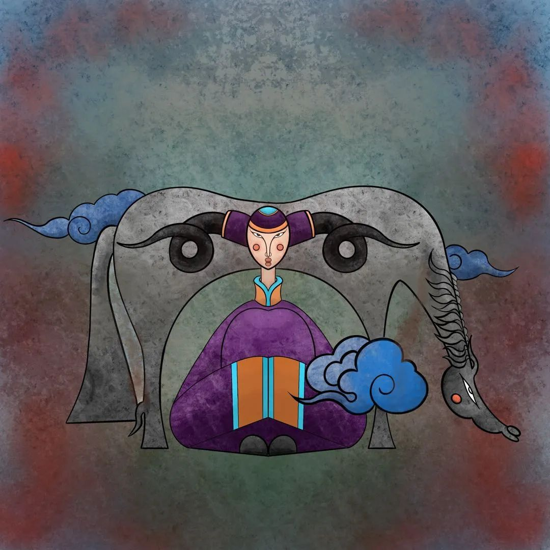 欣赏蒙古插画师的作品 第4张