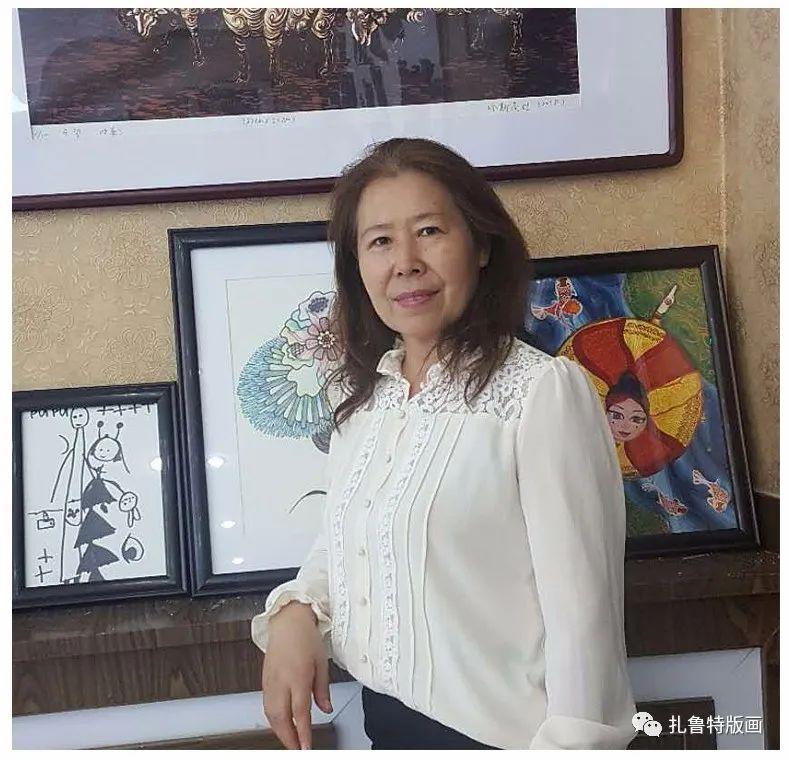 哈斯高娃版画作品欣赏 第1张 哈斯高娃版画作品欣赏 蒙古画廊