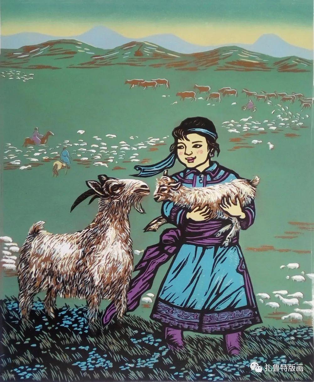 哈斯高娃版画作品欣赏 第14张 哈斯高娃版画作品欣赏 蒙古画廊